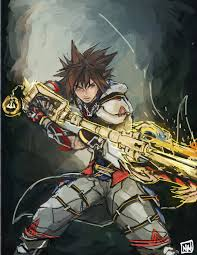 Halloween Town Keyblade Kh2 by Rough Phase Of Sora Wielding The Triplicate Keyblade Fused