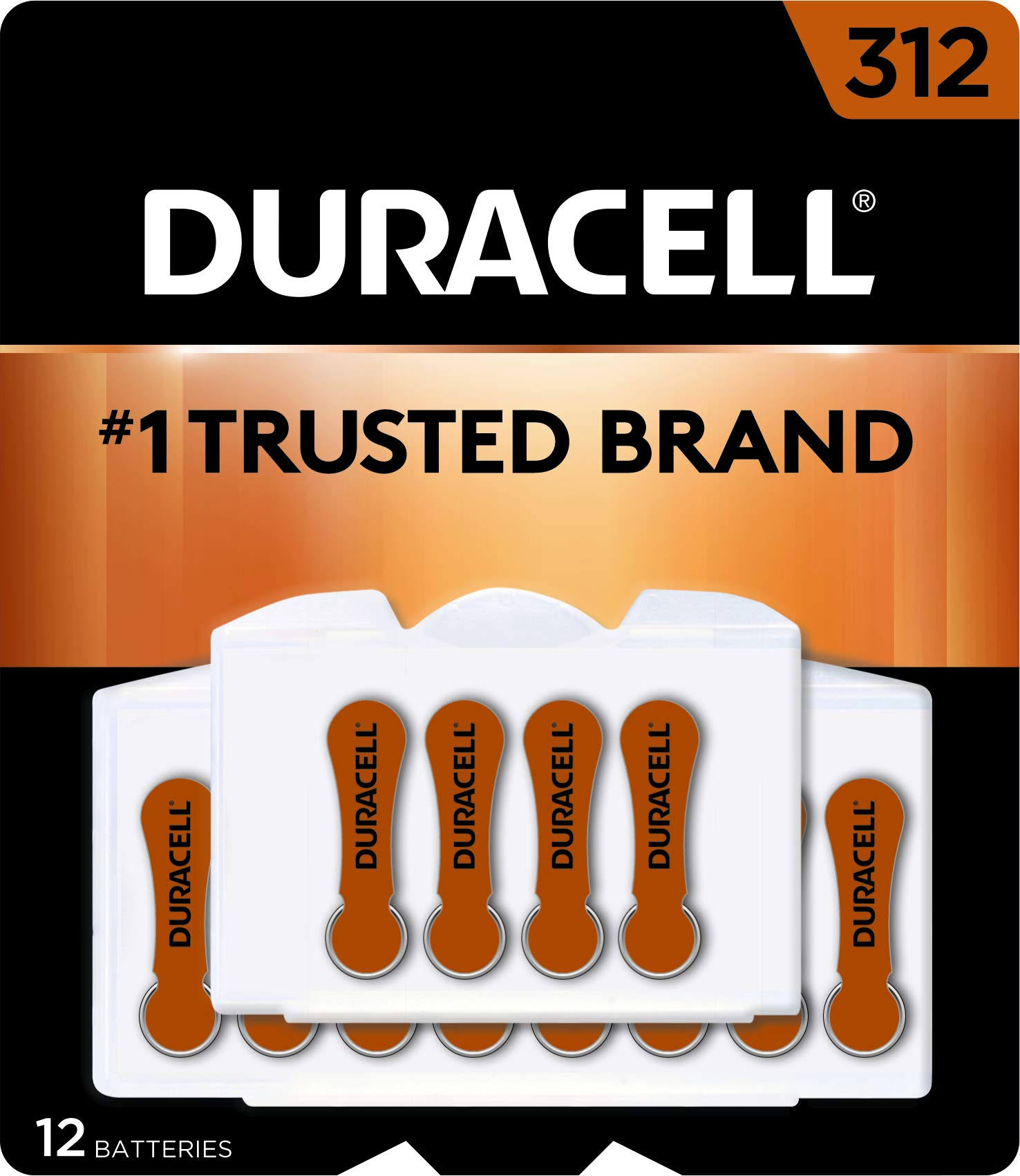 Duracell EasyTab Hearing Aid Batteries - Size 312, 12pcs