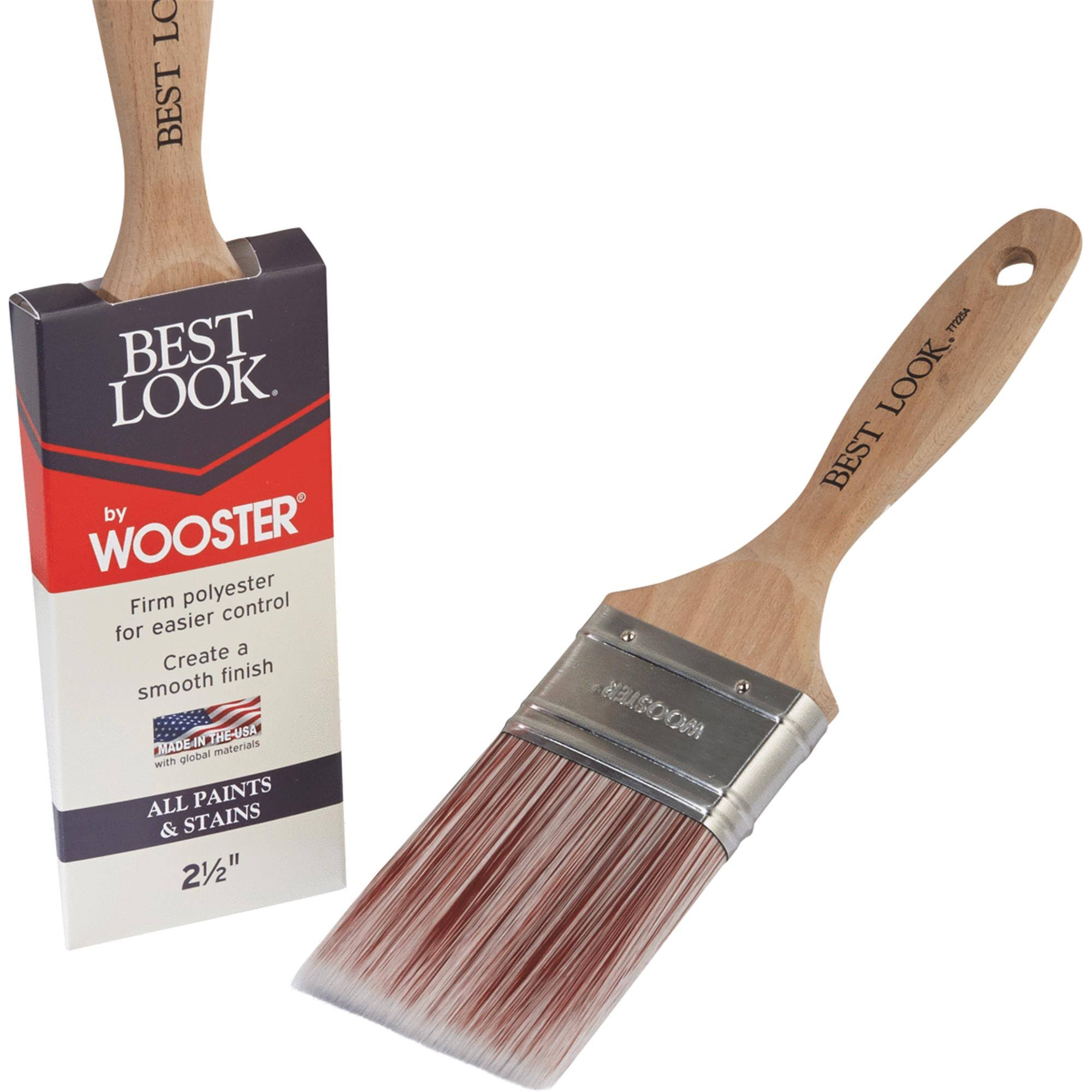 Best Look by Wooster Polyester Paint Brush - D4024-2 1/2