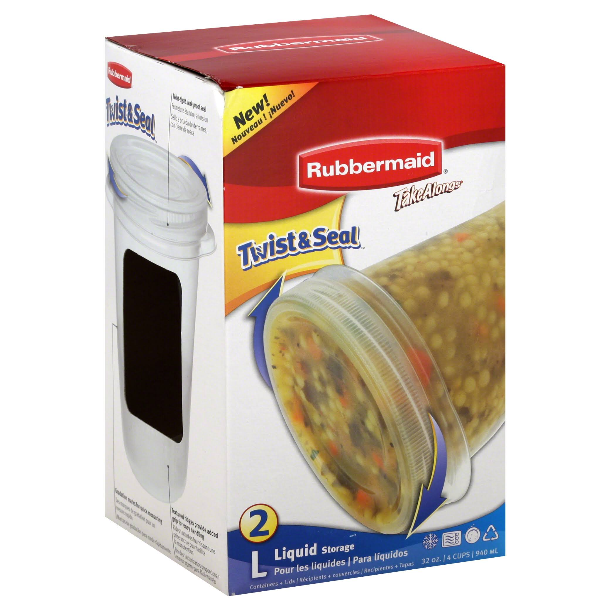 Rubbermaid Twist & Seal Container - Chili Red