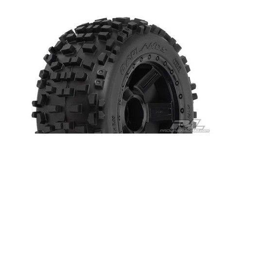 Pro-Line 117811 Badlands 3.8 All Terrain Tire Mounted on Desperado Black Wheels