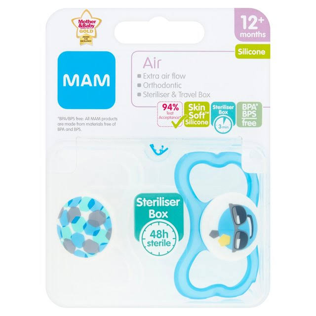 MAM Air Silicone Baby Soother - 12 Months and Up