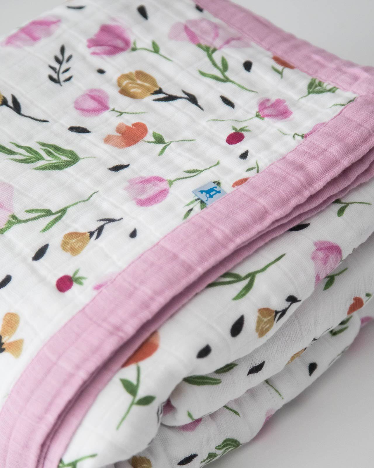 Little Unicorn Big Kid Cotton Muslin Quilt Berry & Bloom