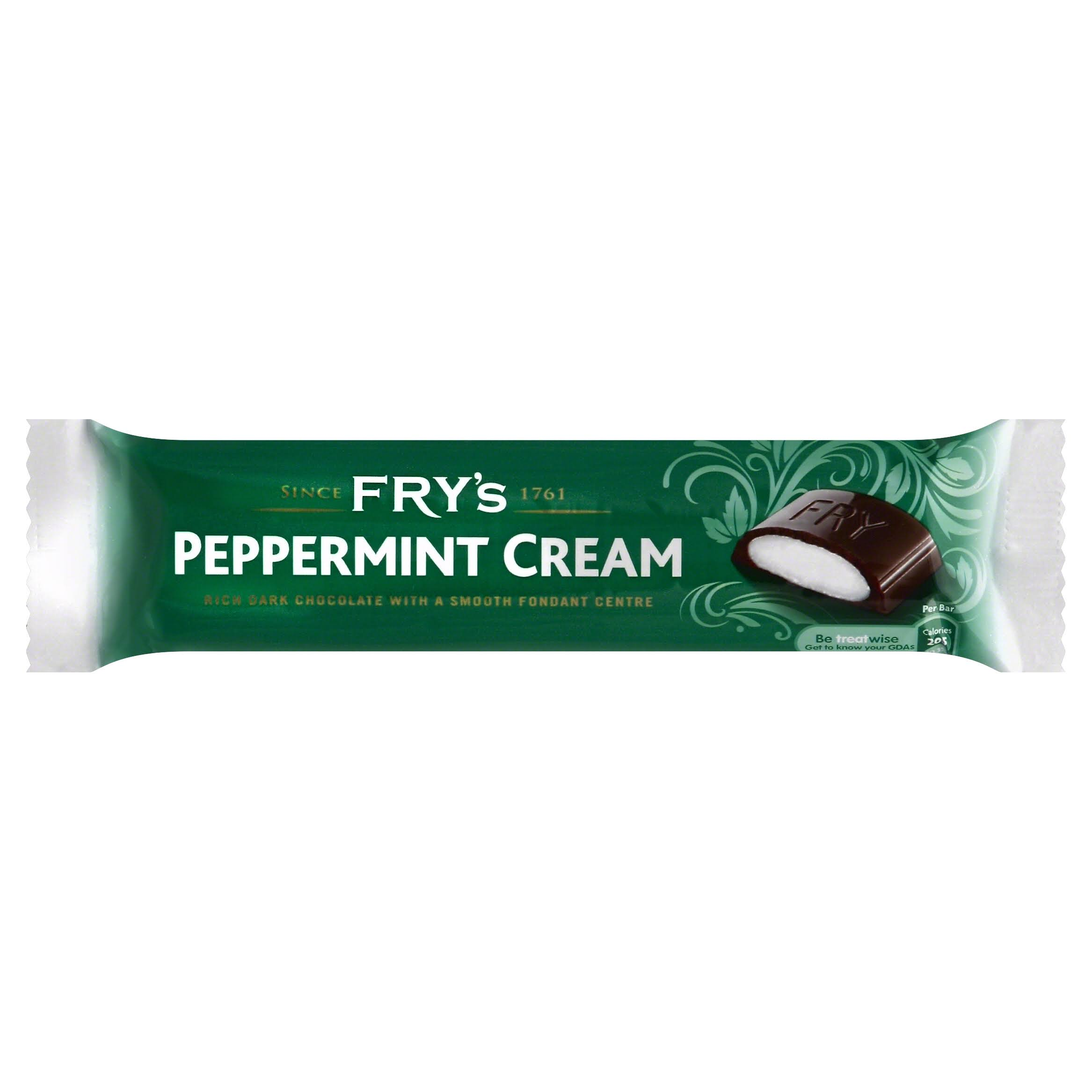 Frys Peppermint Cream Chocolate Bar