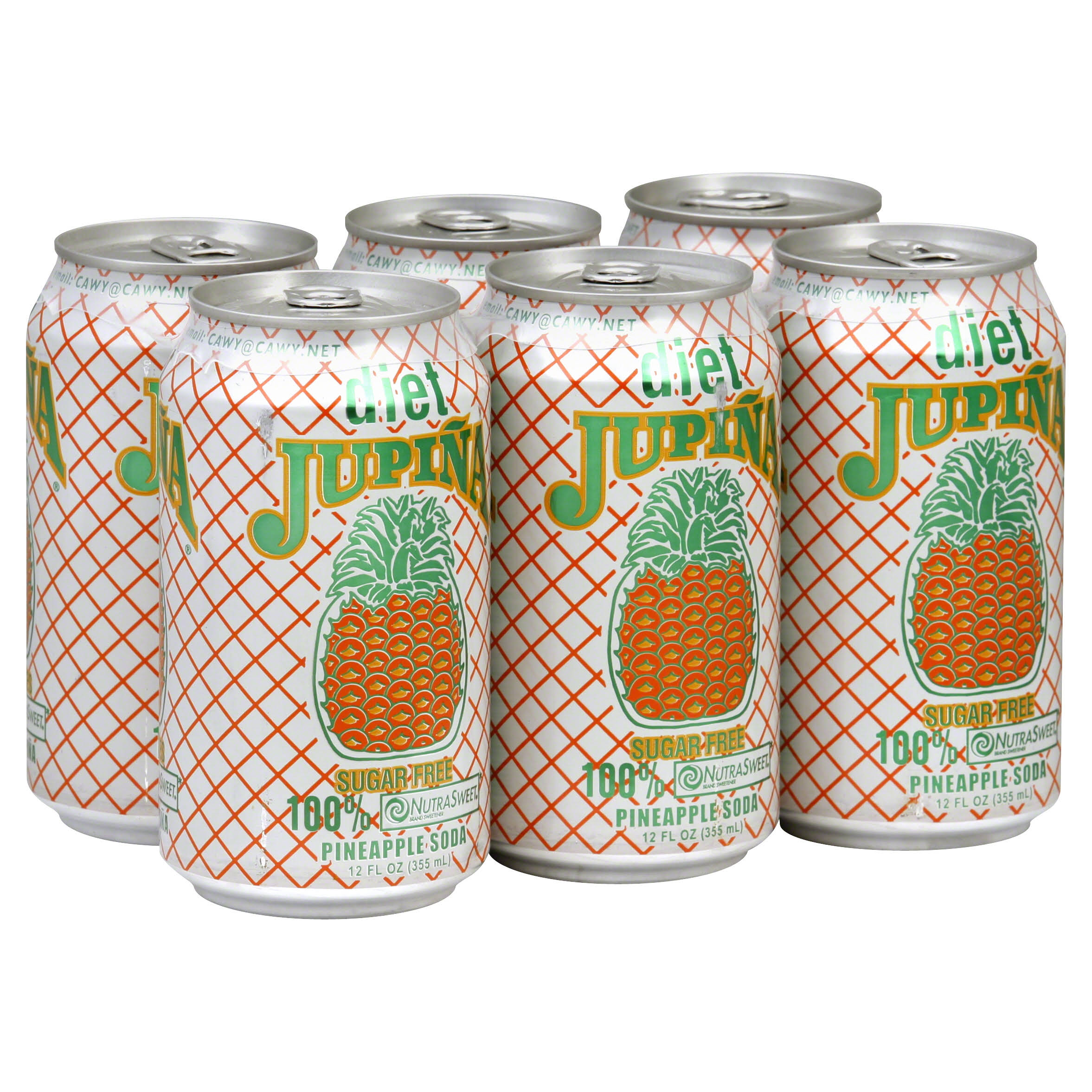 Jupina Pineapple Diet Soda - 6pk, 12oz