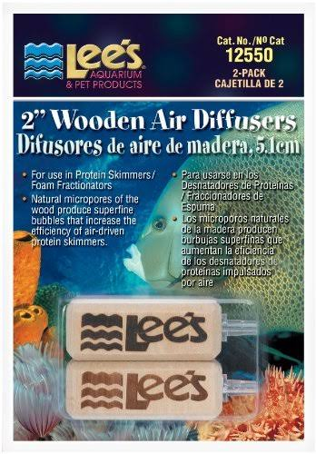 "Lee's Fish Aquarium Wooden Air Diffuser - 2"", 2pk"