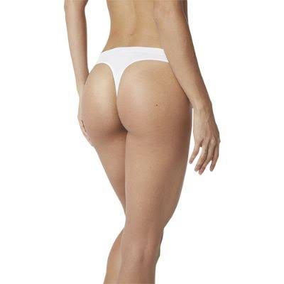 Boody Organic Bamboo Eco Wear G String - White, Small to Medium