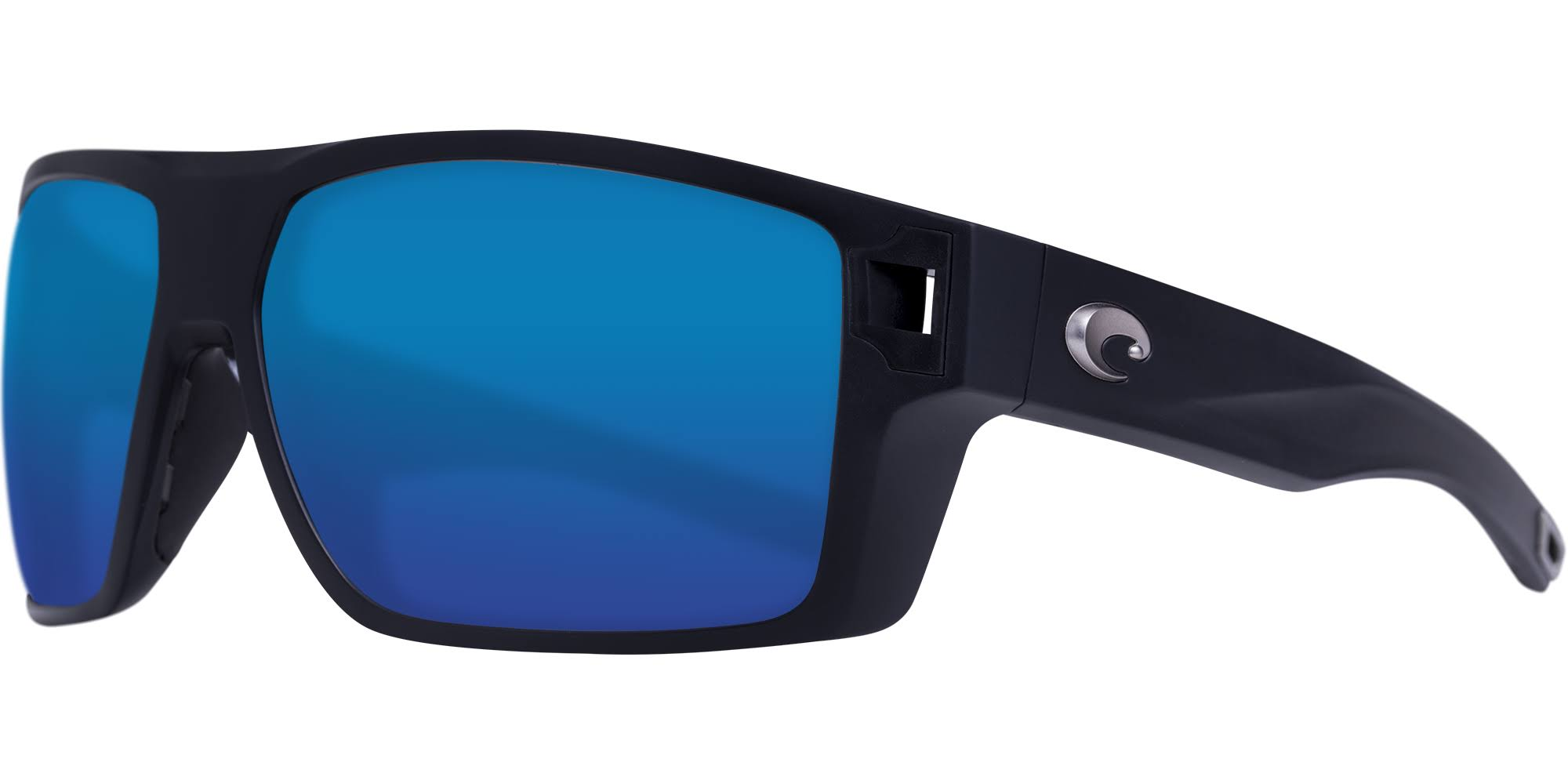 Diego Sunglasses | Costa Del Mar Matte Black / Blue Mirror