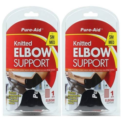 Pure-Aid Knitted Elbow Support - Small / Medium