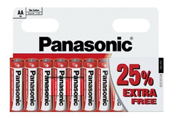 Panasonic Zinc Carbon Batteries - 1.5v, Size AA, 10 Pack