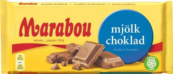 Marabou Original Swedish Milk Chocolate Mjolkchoklad Bar - 200g