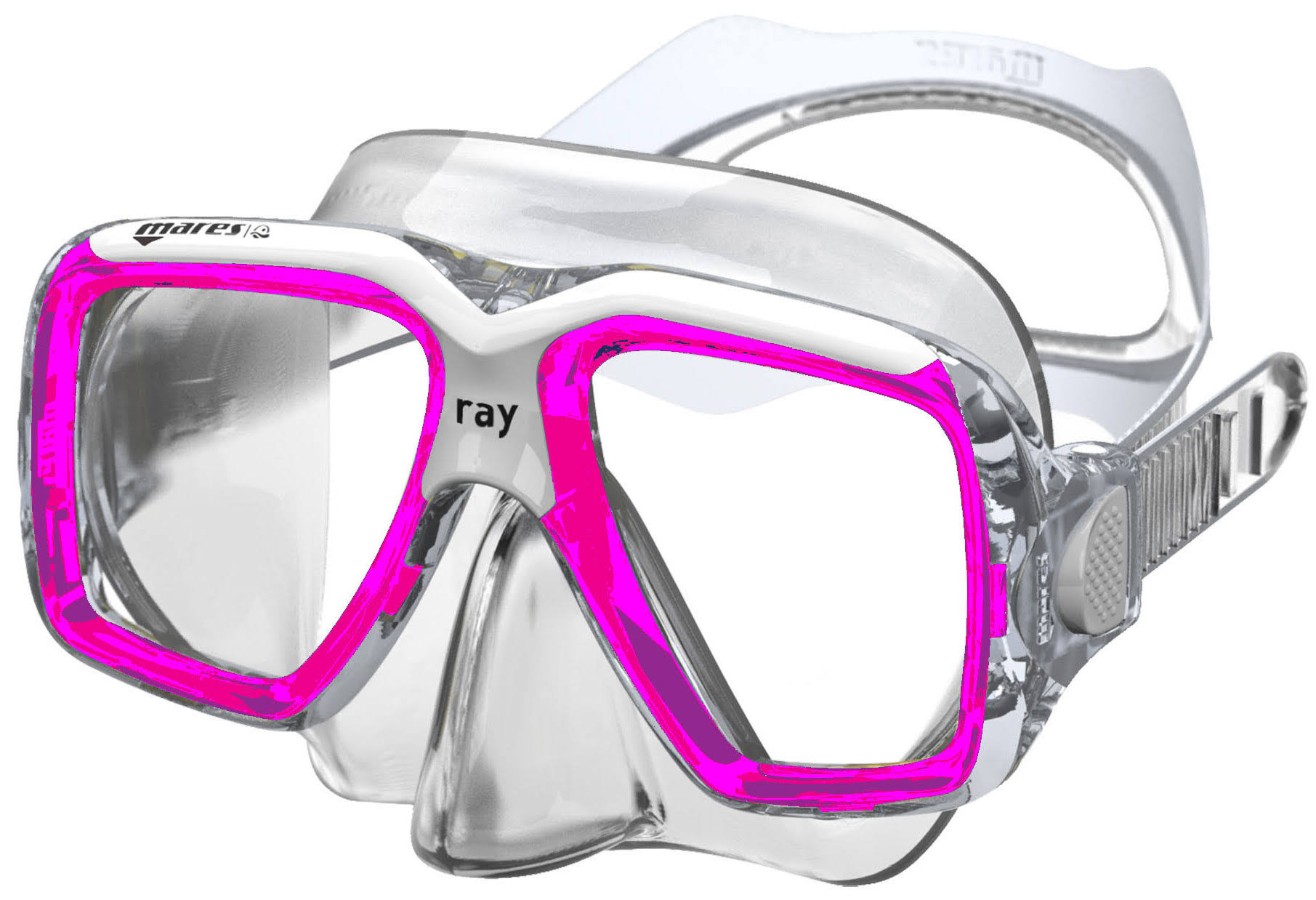 Mares Ray Two Window Dive Mask - Pink