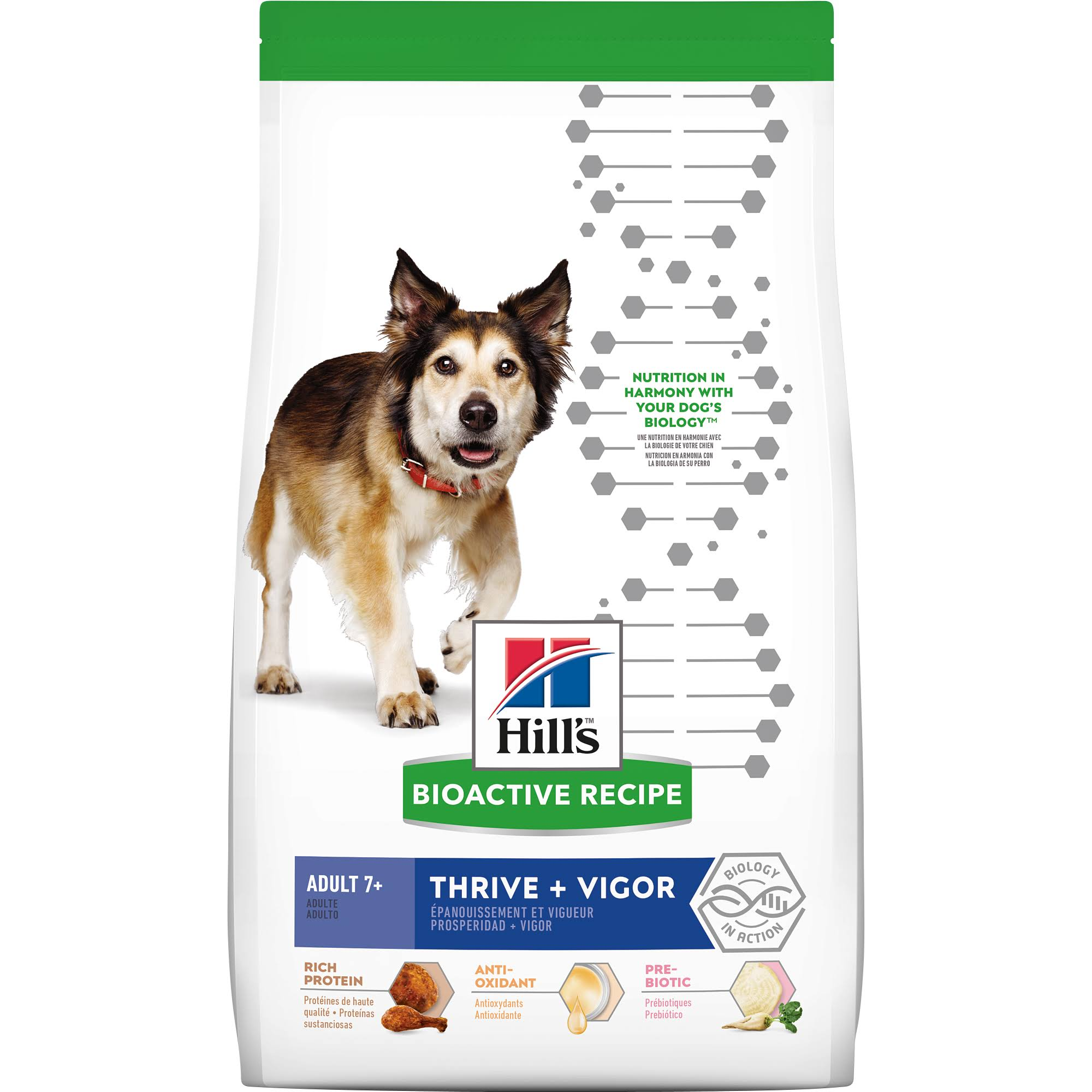 Hill's 21.5 lbs Bioactive Recipe Thrive + Vigor Adult Breed Dry Dog Food