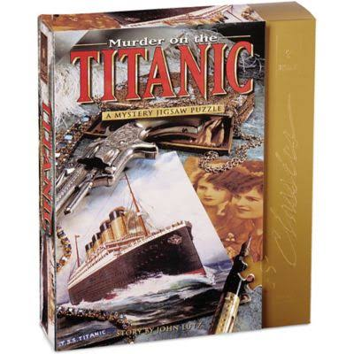 University Games Murder On The Titanic Mystery Jigsaw Puzzle - 1000 Pieces