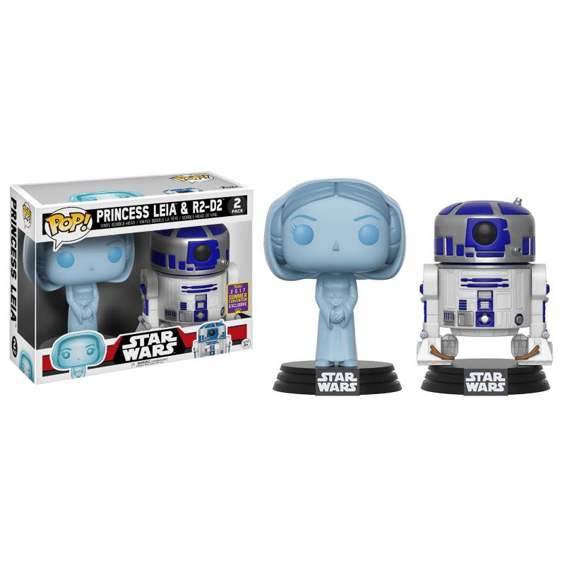 Funko Pop 2017 Star Wars Princess Leia and R2 D2 Figure Set - 2pk