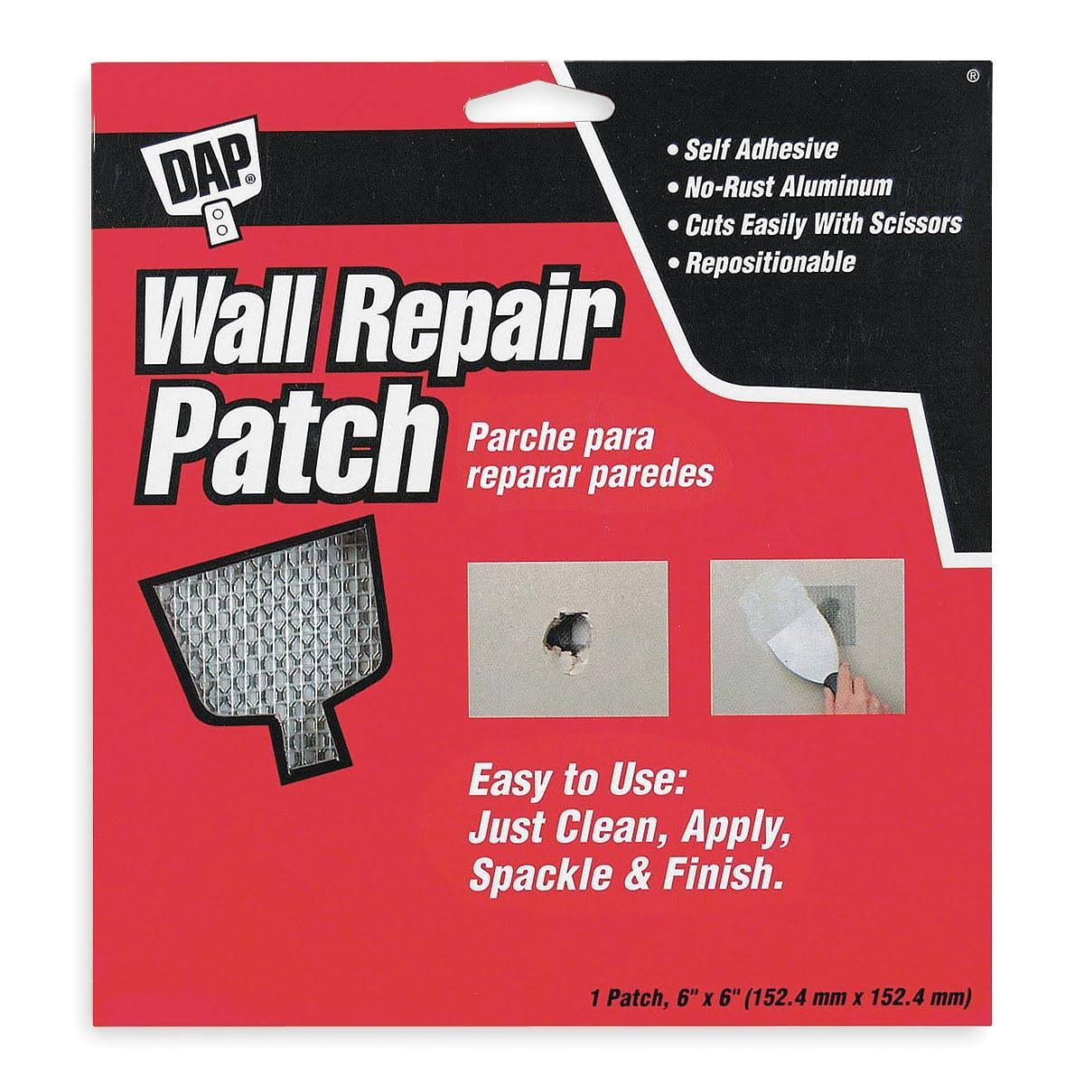 "Dap Wall Repair Patch - 6"" x 6"""