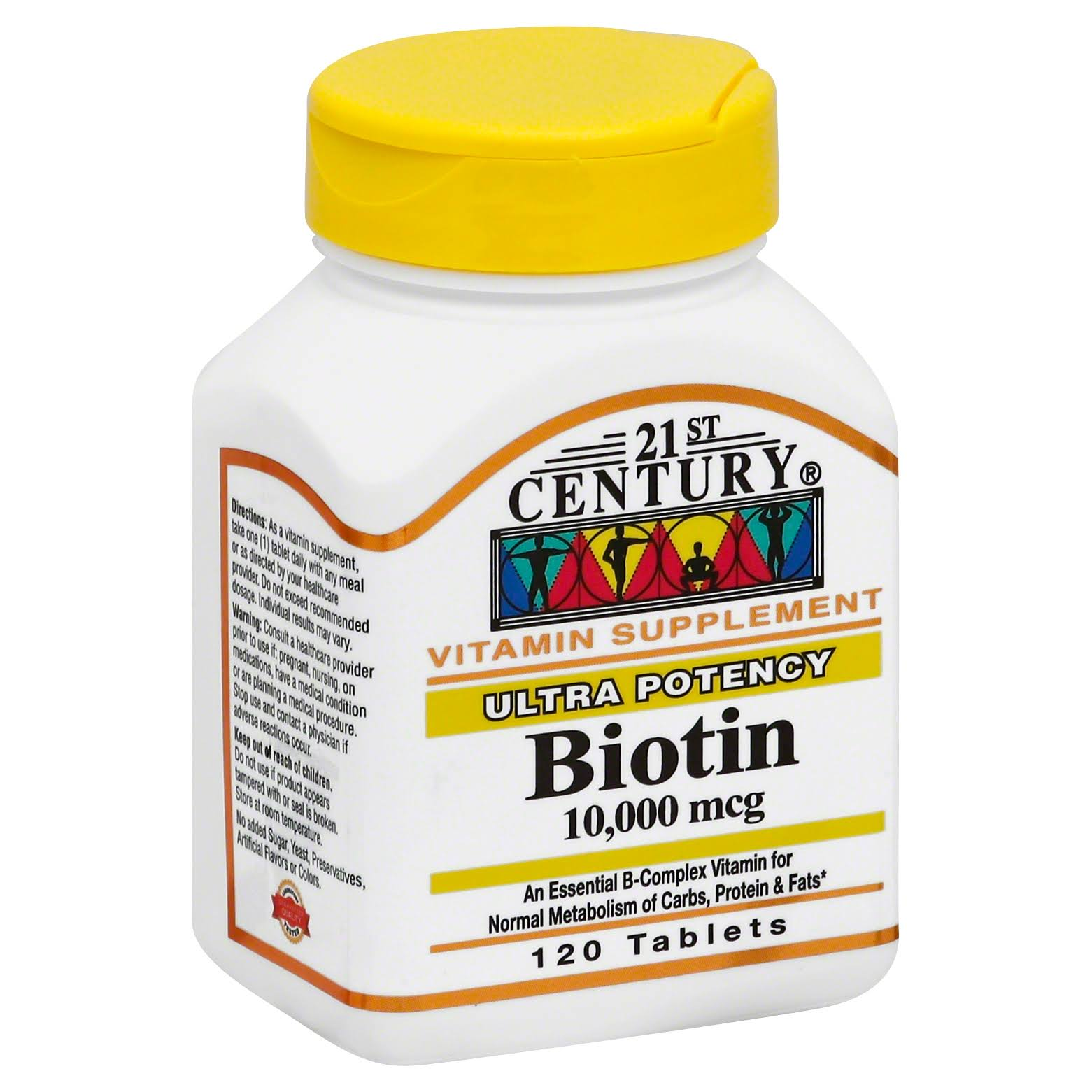 21st Century Biotin Vitamin Supplement - 10,000mcg, 120 Tablets