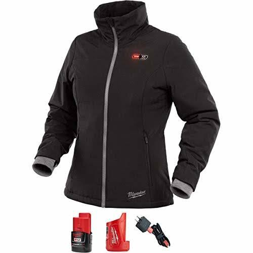 Milwaukee Women's 12-Volt Lithium-Ion Cordless Heated Jacket Kit with 2.0Ah Battery & Charger - Black, Large