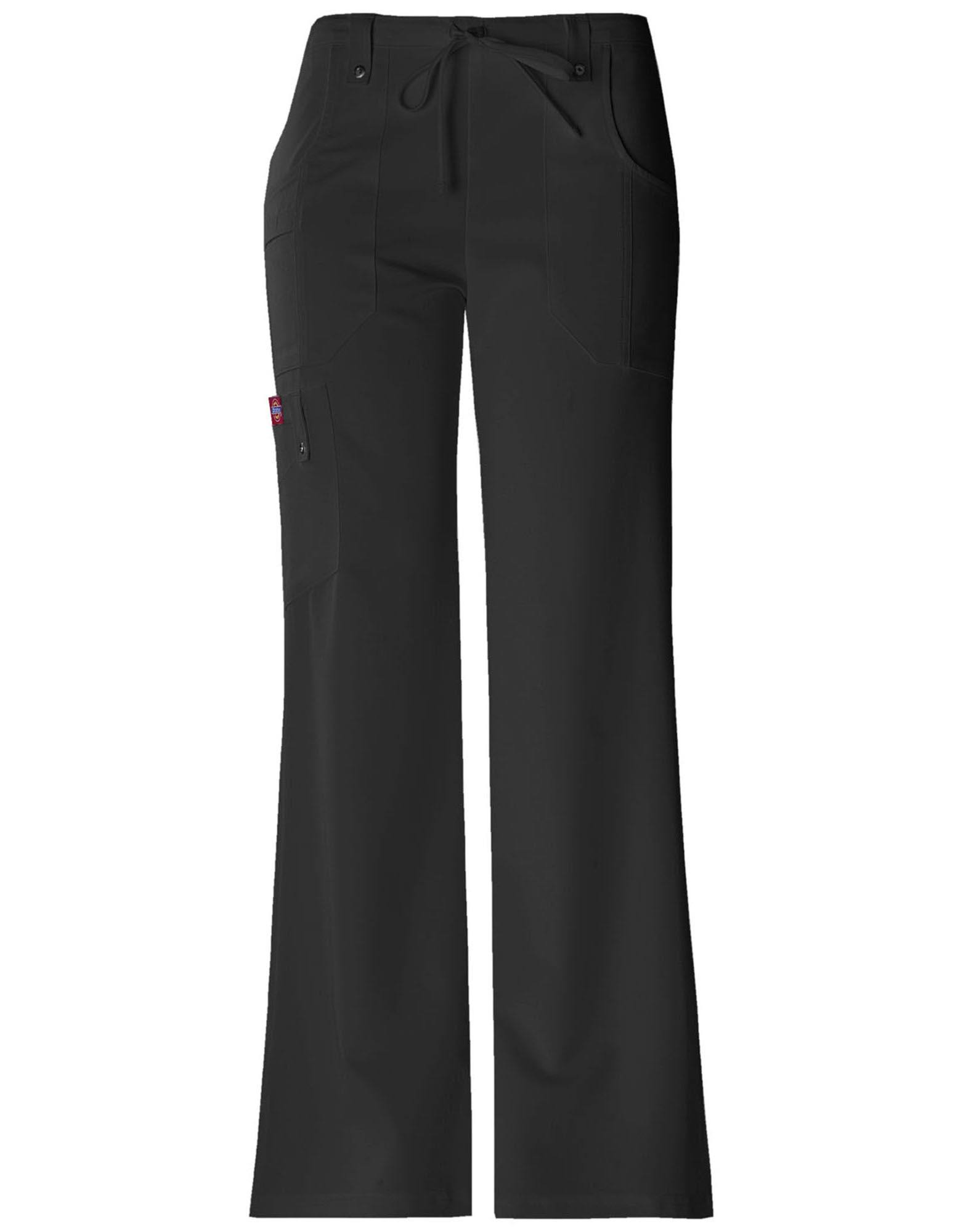 Dickies Women's Xtreme Stretch Tall Drawstring Scrub Pant - S - Black