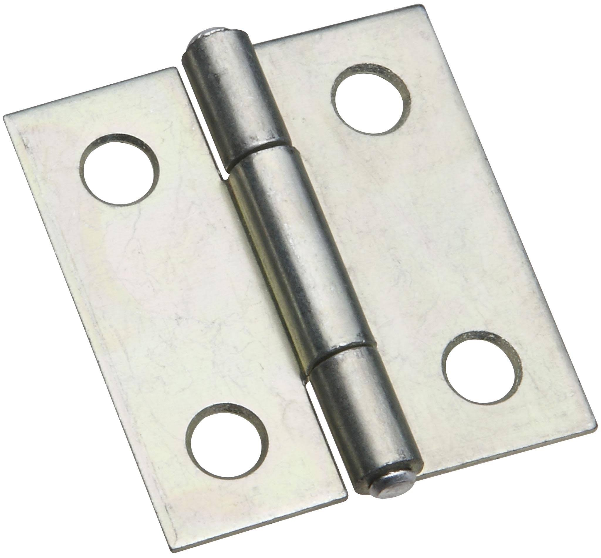 Non Removable Pin Hinges - Zinc, 1 1/2""