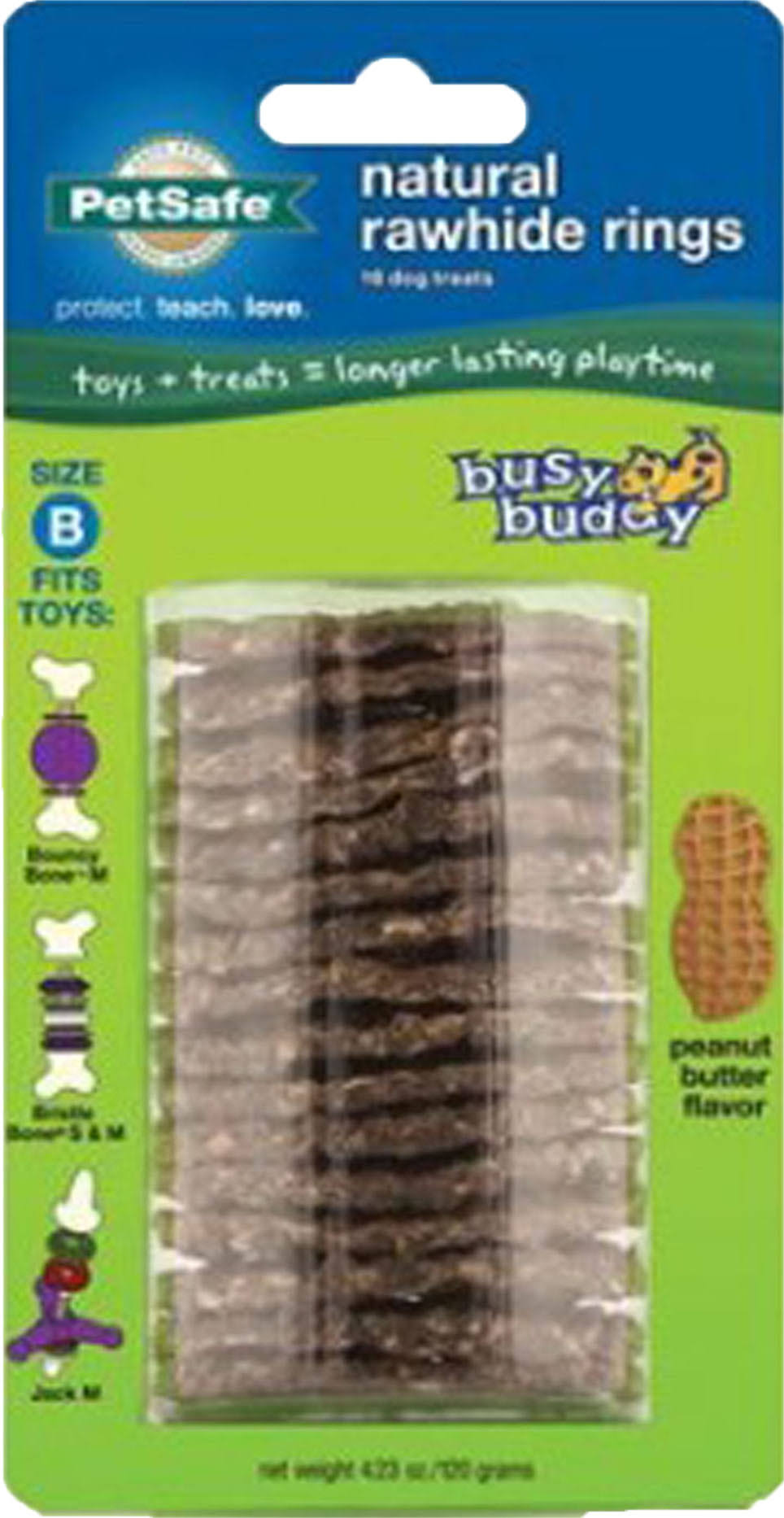 PetSafe Busy Buddy Refill Ring Dog Treats - Peanut Butter Flavored