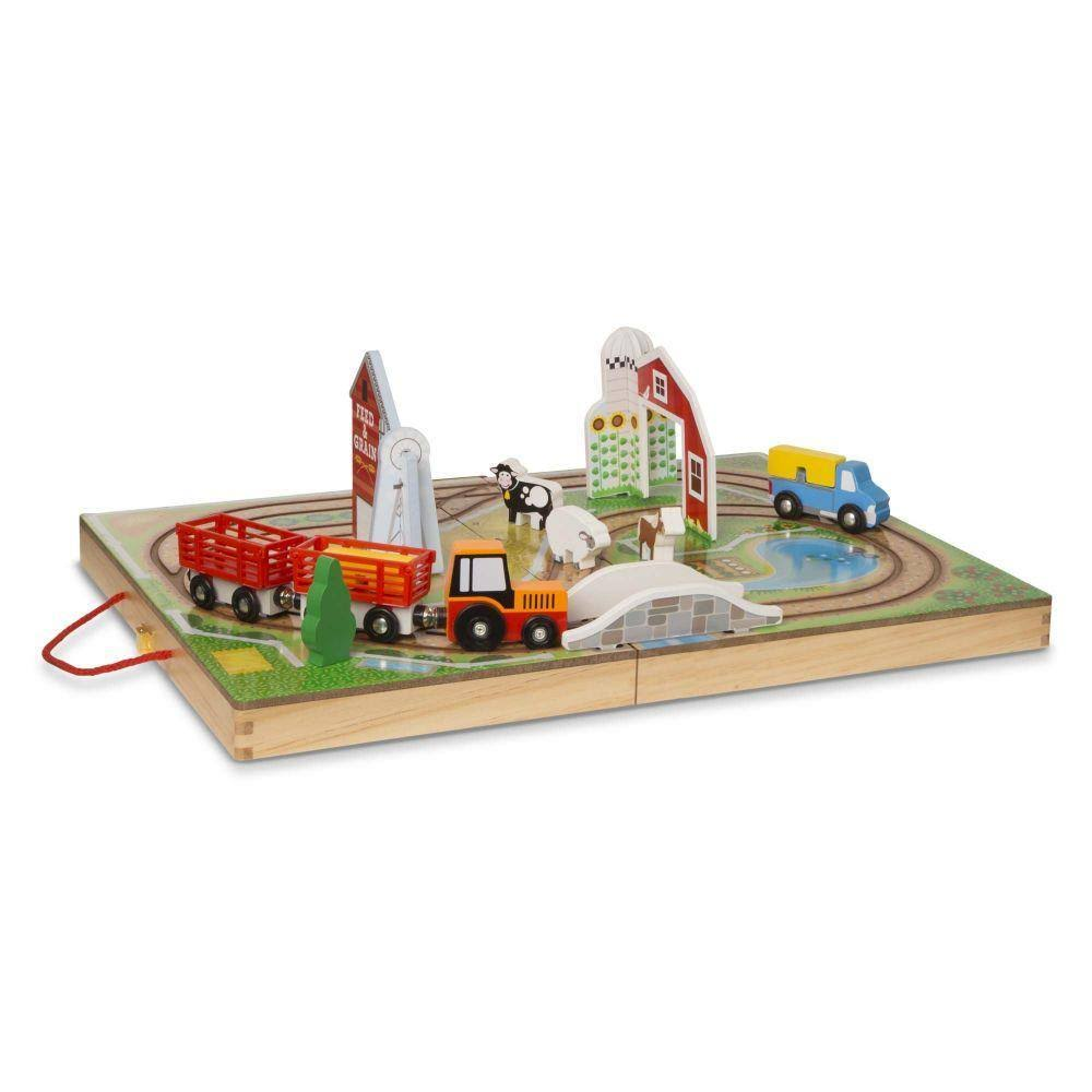 Melissa & Doug Farm Wooden Playset