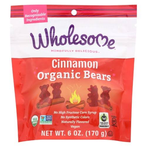 Wholesome Organic Cinnamon Bears, 6 oz