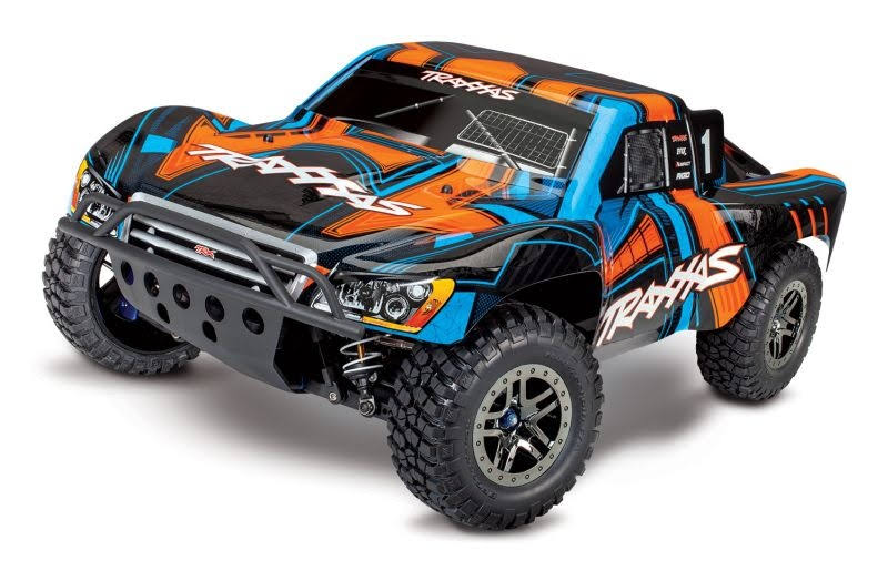 Traxxas TRA68077-4 Orange Slash 4x4 Ultimate 1/10 4WD Short Course Race Truck