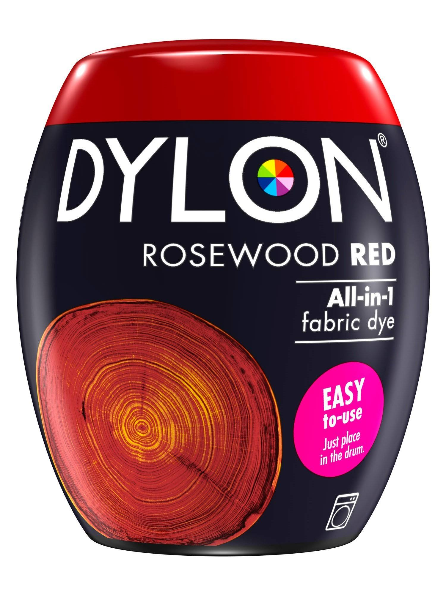 Dylon All in One Fabric Dye - Rosewood Red, 350g