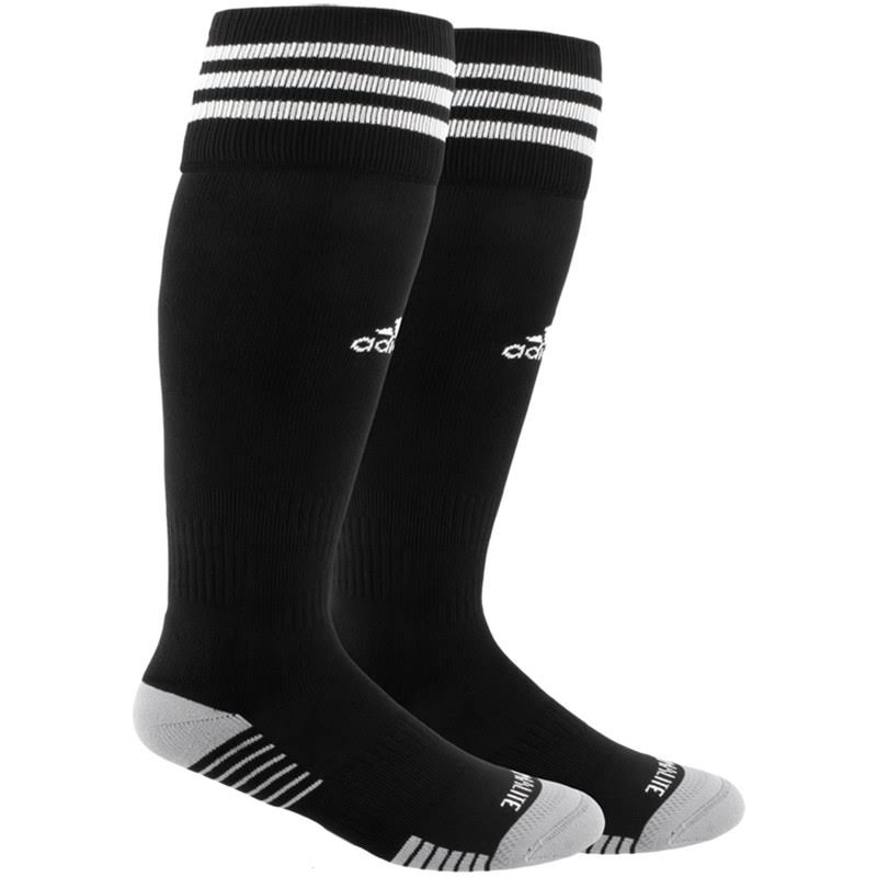 adidas Copa Zone Cushion IV Soccer Socks - Black/Grey, 9-13