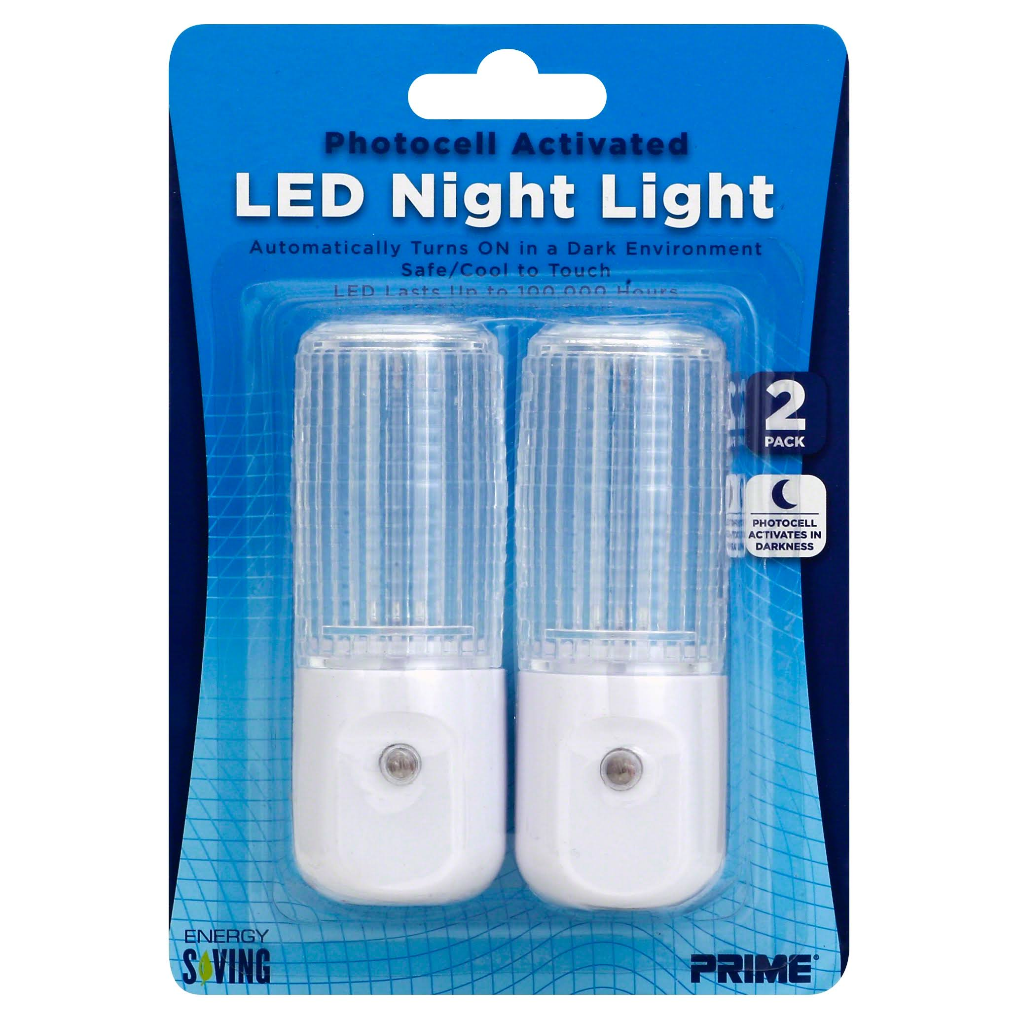 Prime Wire and Cable LED Night Light - Photocell Activated, 2 Pack