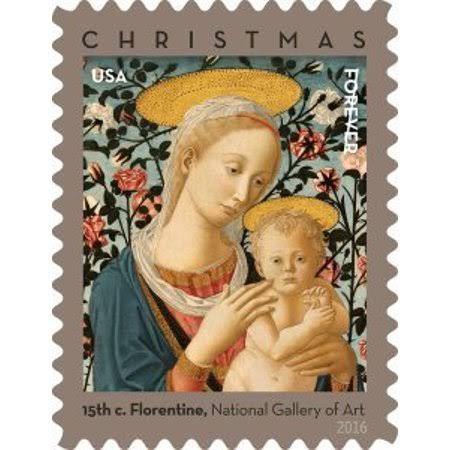 USPS Christmas Florentine Madonna and Child Religious Book Stamp Sheet - 20ct