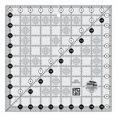 "Creative Grids Square Quilt Ruler - 10.5"" x 10.5"""