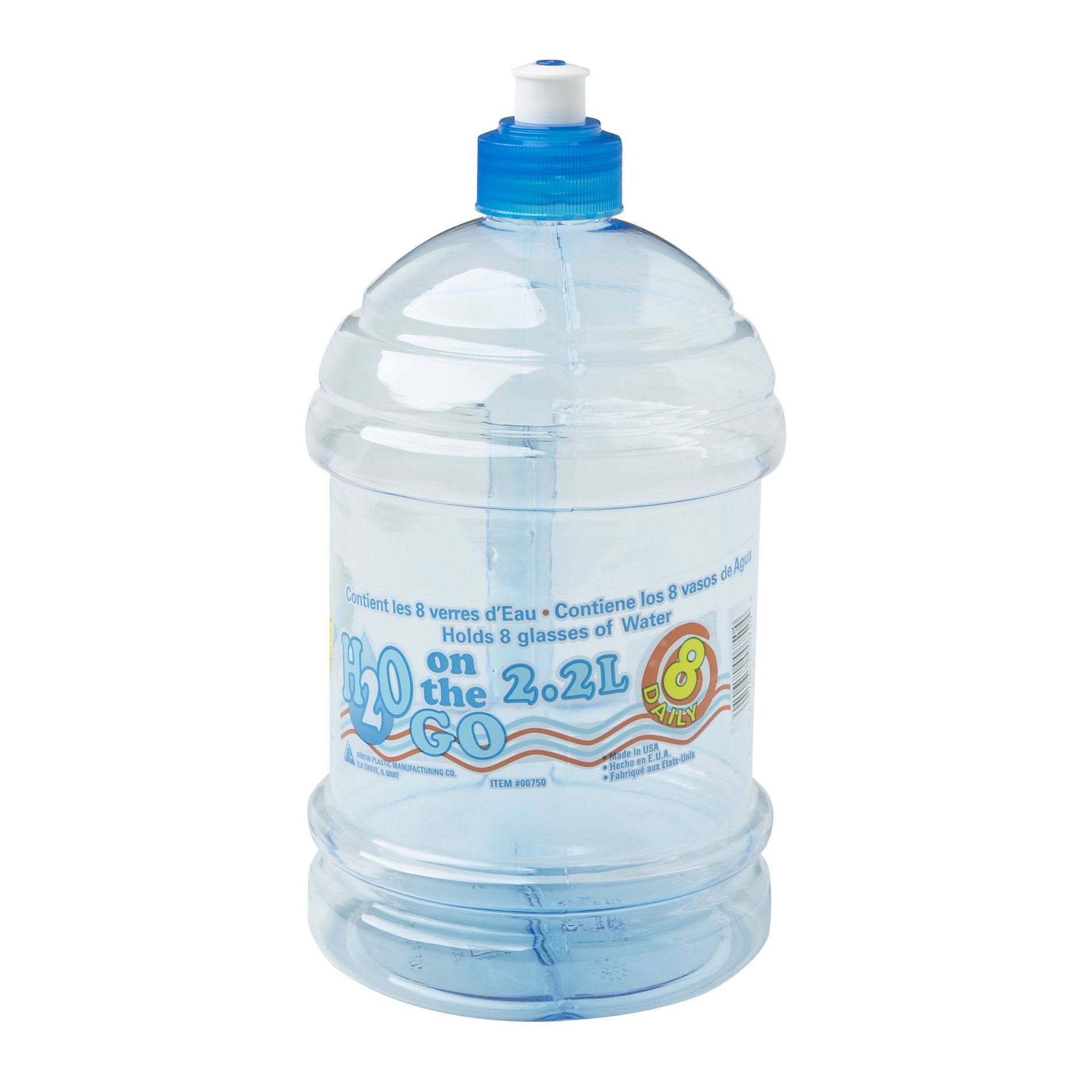 Arrow Plastics H2O on the Go Beverage Bottle - 2.2L