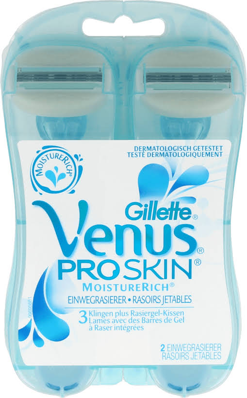 Venus ComfortGlide Vanilla Crème Womens Disposable Razor - 2pk