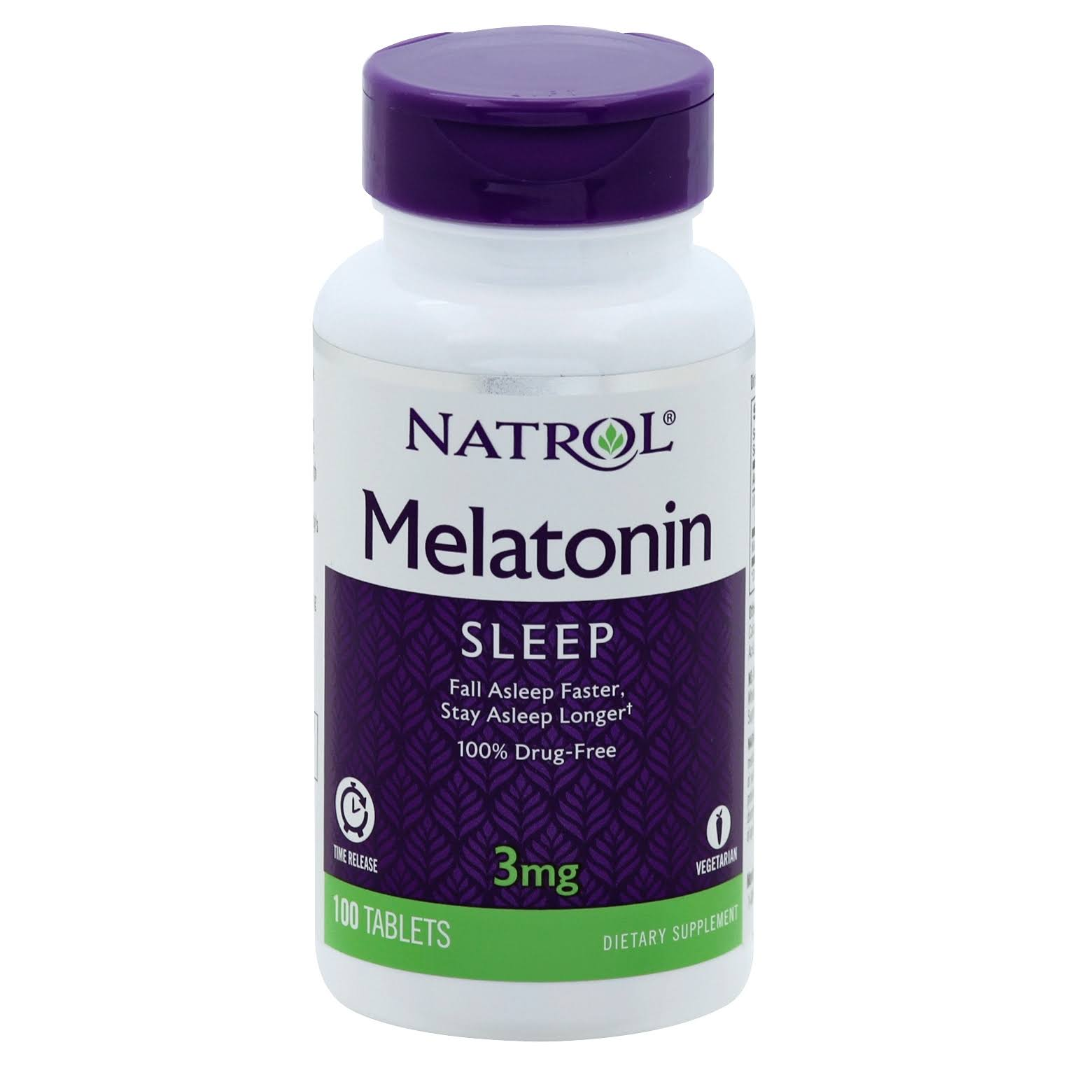 Natrol Melatonin Time Release Dietary Supplement - 3mg, 100 Tablets