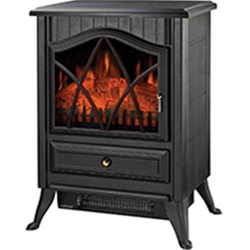 Homebasix ND-18D2S Electric Fireplace Heater - Black, 120V, 1500W, 160sq.ft