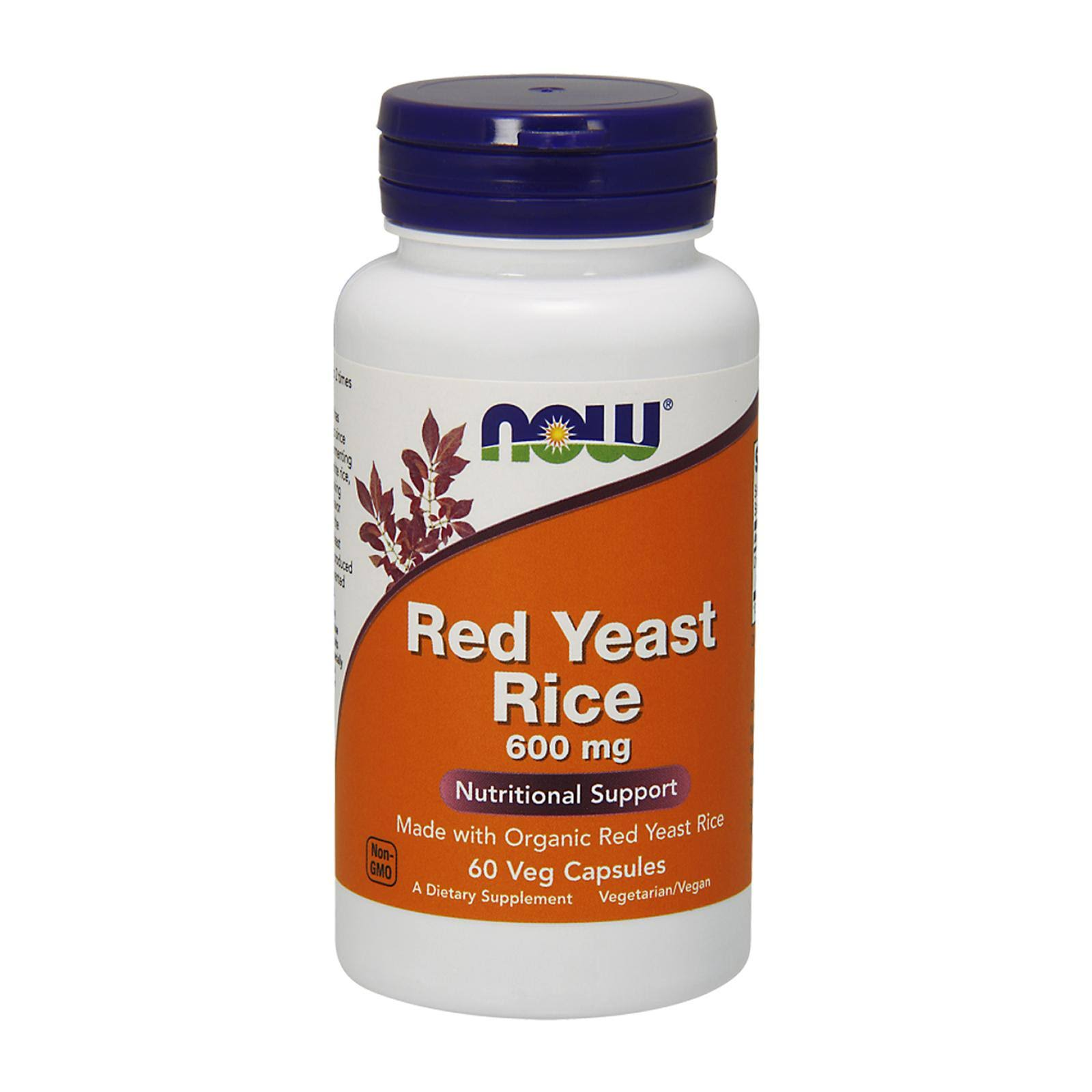 Now Foods Red Yeast Rice Extract - 60 Vcaps, 600mg