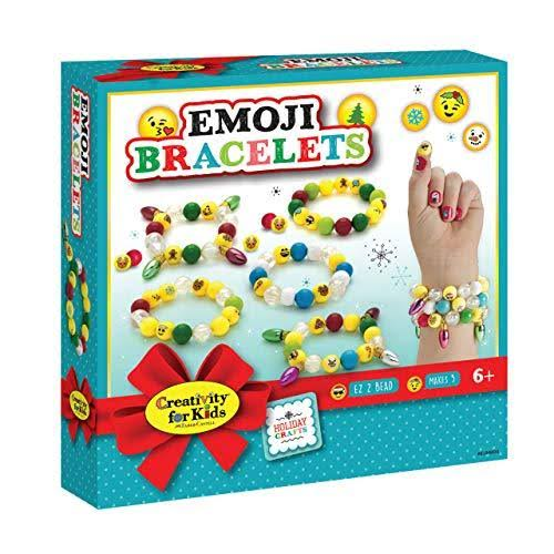 Creativity for Kids Holiday Emoji Bracelets