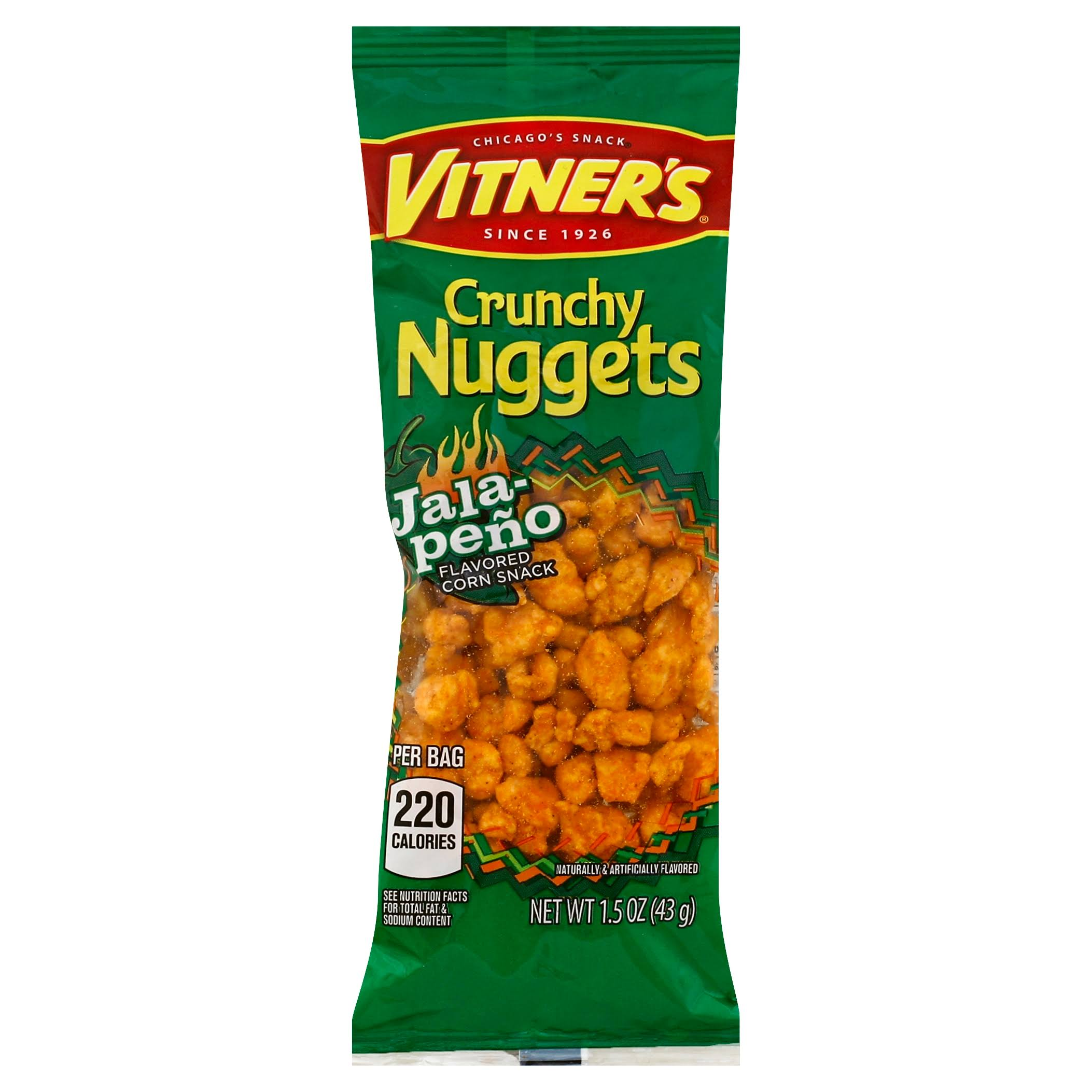 Vitners Corn Snack, Jalapeno Flavored, Crunchy Nuggets - 1.5 oz