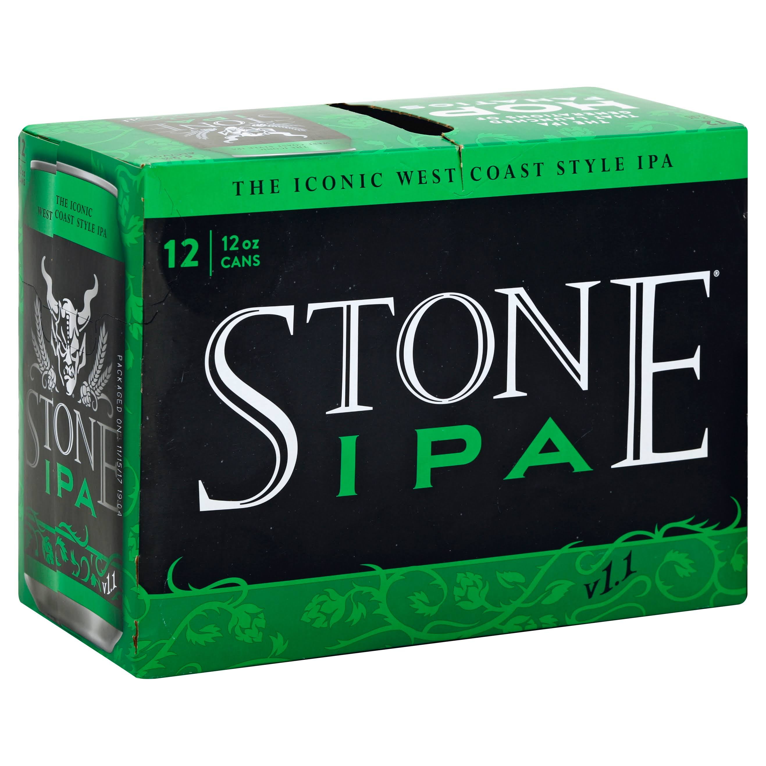 Stone Beer, IPA - 12 pack, 12 oz cans