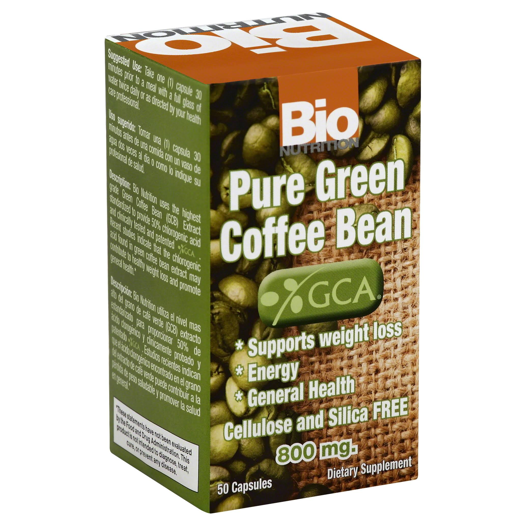 Bio Nutrition Pure Green Coffee Bean - 50 capsules
