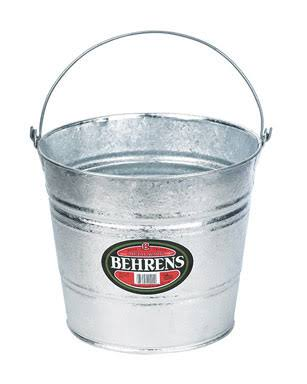 Behrens Hot Dipped Steel Pail - 10 Qt