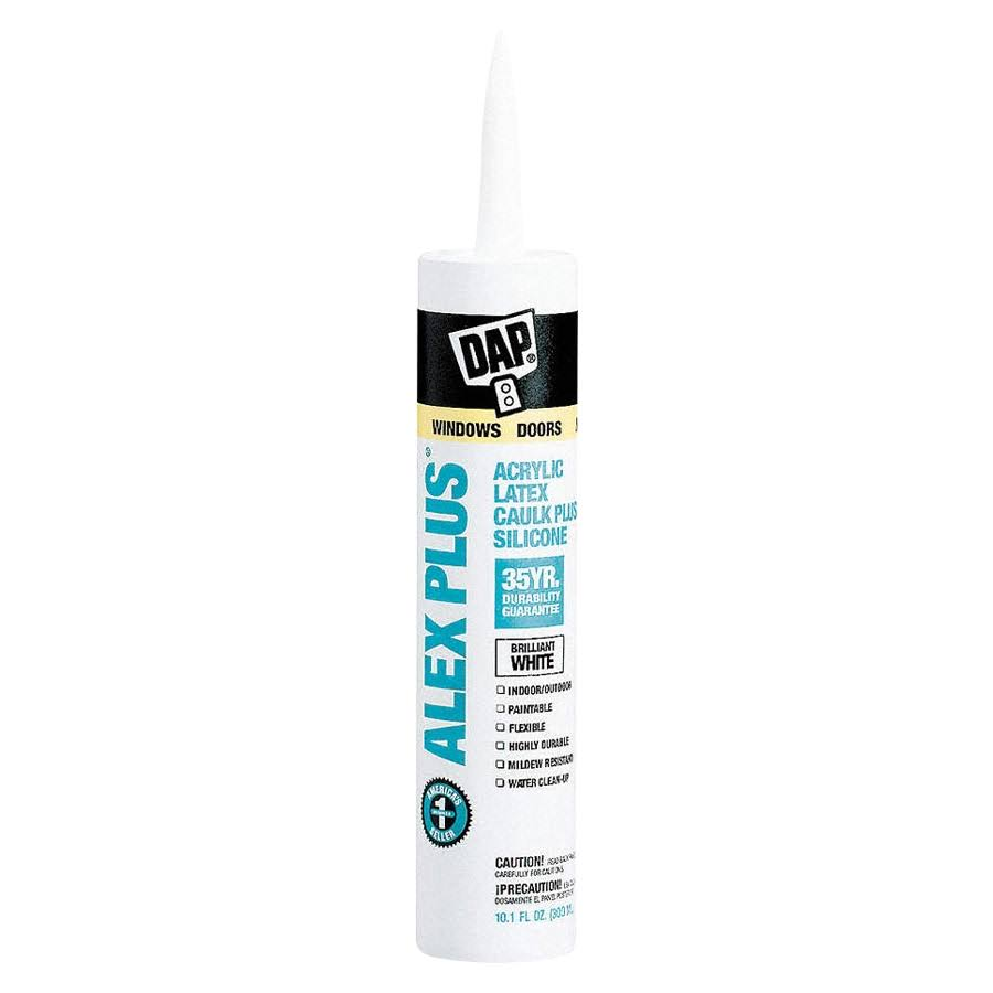 Dap Alex Plus White Acrylic Latex Caulk - 10.1oz