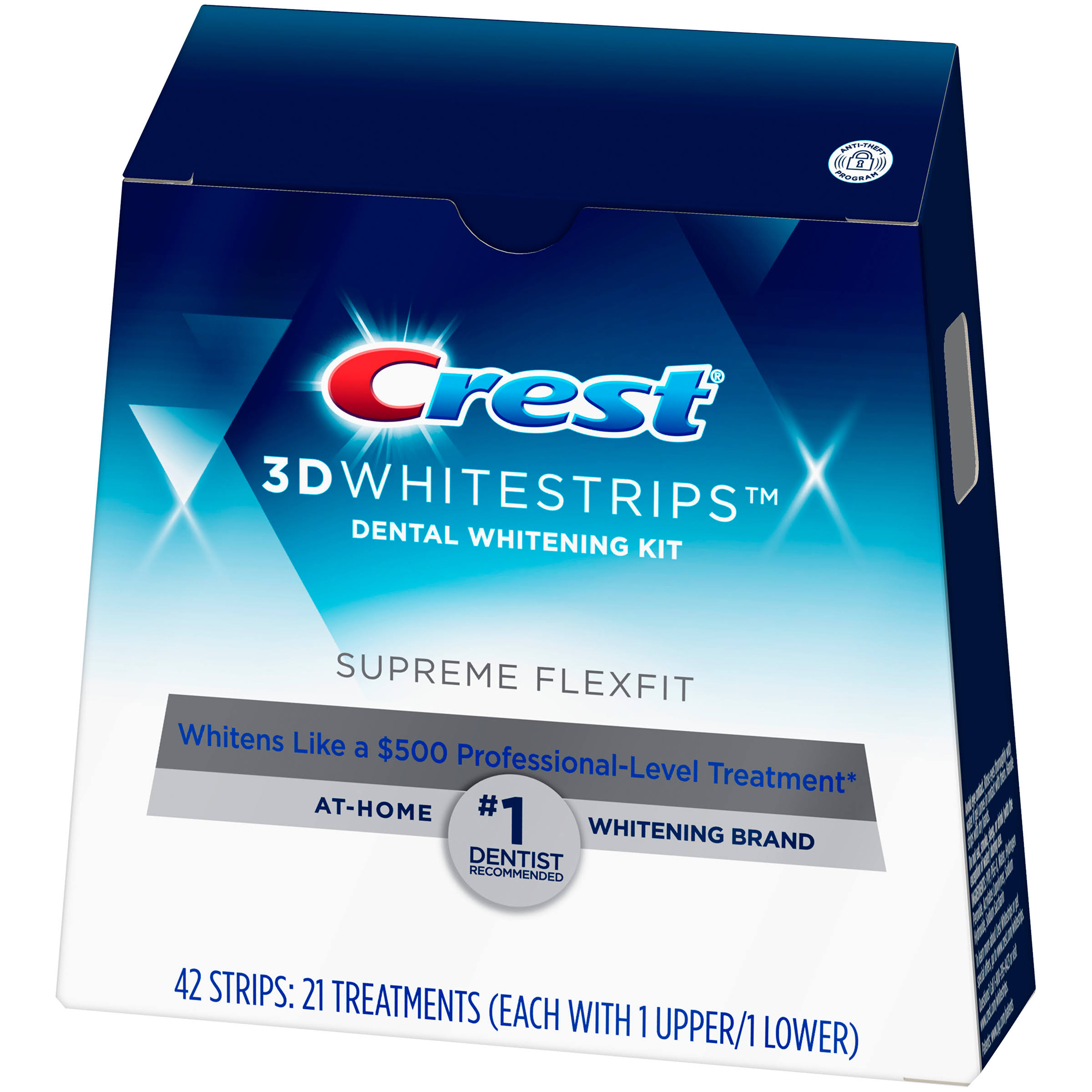Crest 3D White Supreme Flexfit Dental Whitening Kit - with 21 Treatment, 42 Strips