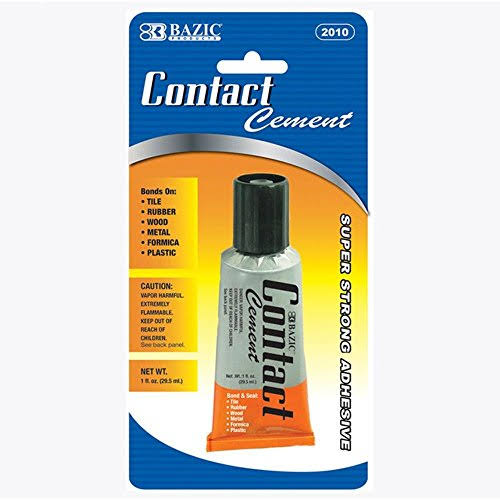 Bazic Super Strong Contact Cement Adhesive Glue - 30ml, 2pk