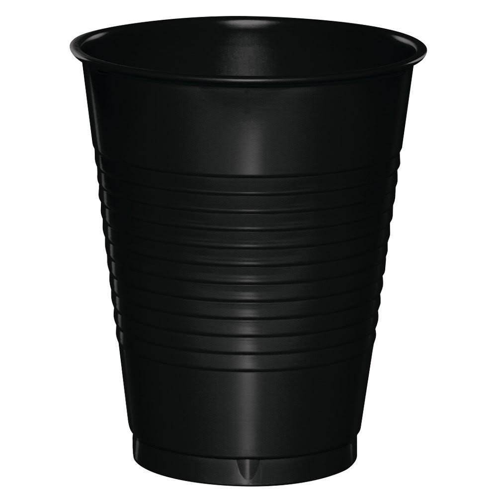 Creative Converting Touch of Color Plastic Cups - Black Velvet, 16oz, 20ct