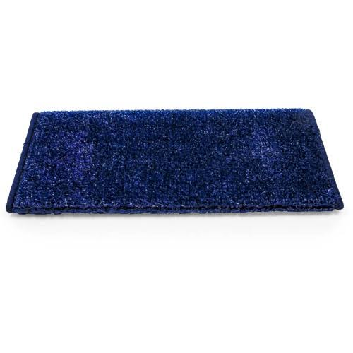 Camco 42916 Premium Wrap Around RV Step Rug, Turf Material (17.5 inch x 18 inch), Blue