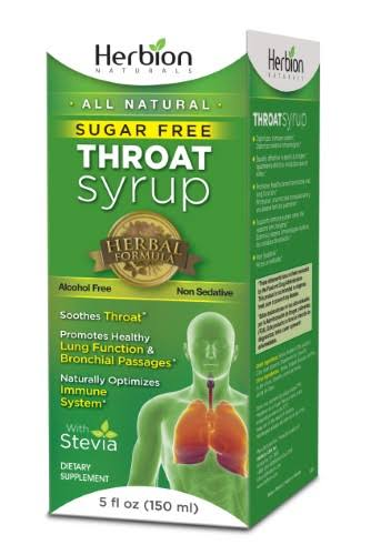 Herbion Naturals Throat Syrup - 5oz