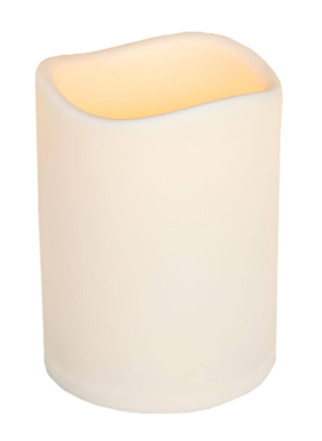 "Everlasting Glow Led Indoor & Outdoor Candle - Timer, Bisque, 4.625""x6"""